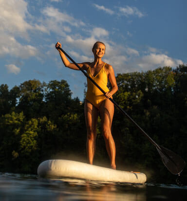 SPP Woman on paddle board