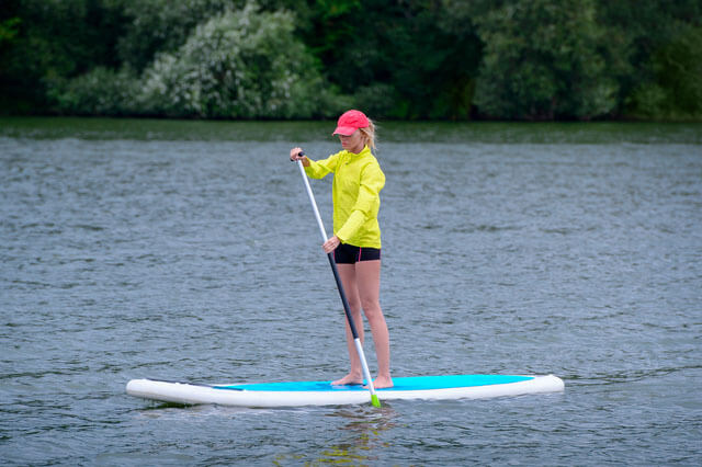 SPP Person using paddle board for exercise