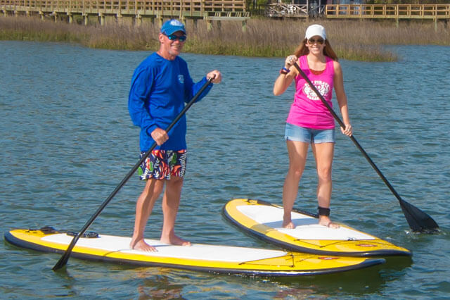 SPP A Couple Using Paddle Boards
