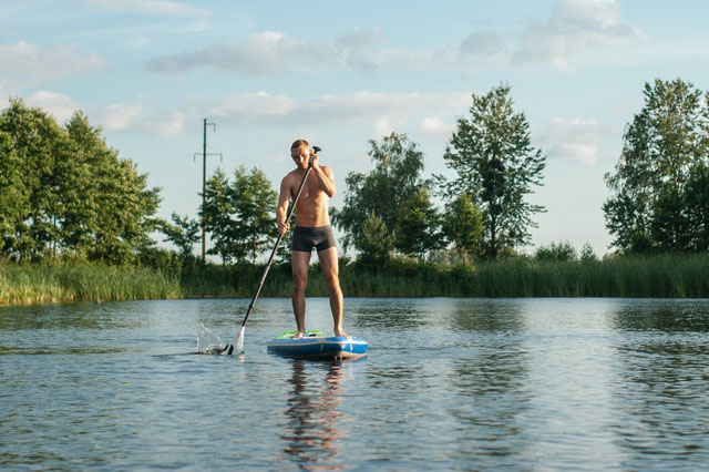 SPP Person using paddleboard