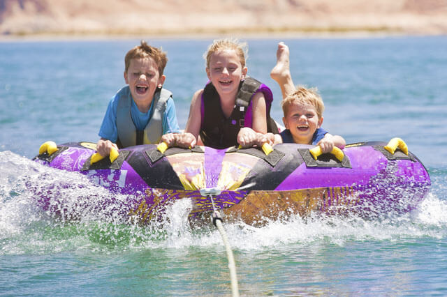 SPP Children on a water tubing