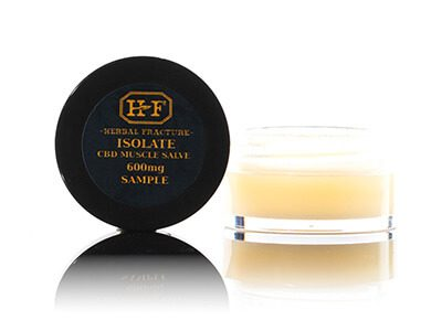 Herbal Fracture Isolate CBD Muscle Salve 600mg Free Sample Black Label
