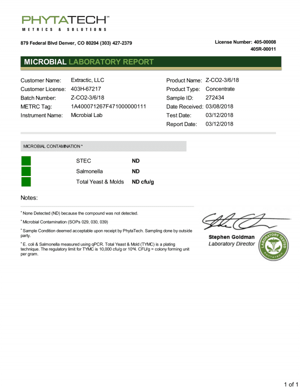 Microbial Laboratory Report