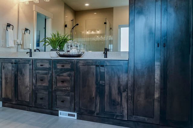 ALS - Wooden Cabinet in a Bathroom
